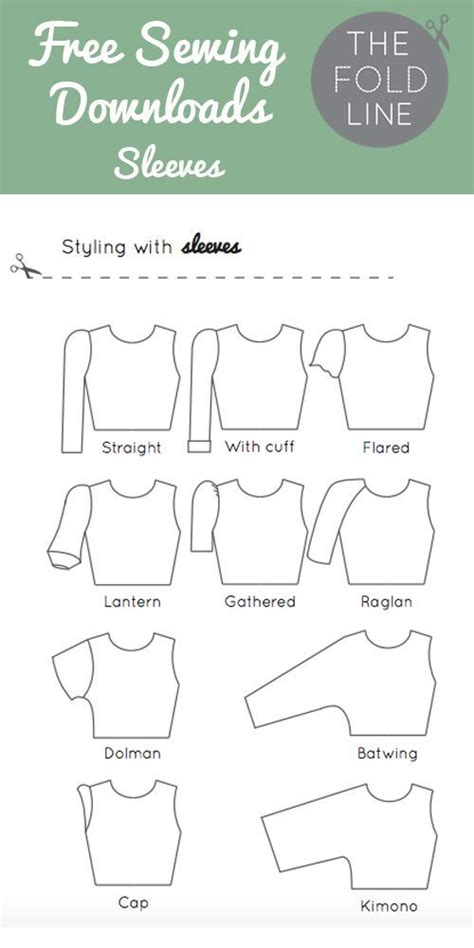 pattern and its types free sewing download of all the sleeve names perfect to