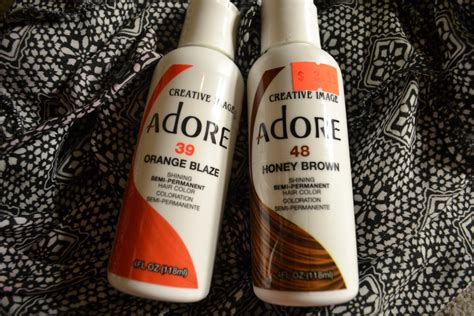 adore hair color in stores adore orange blaze and honey brown mix i rock my