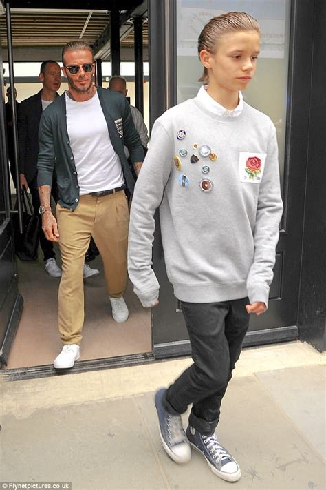 romeo beckham how old romeo beckham looks the spitting image of his father