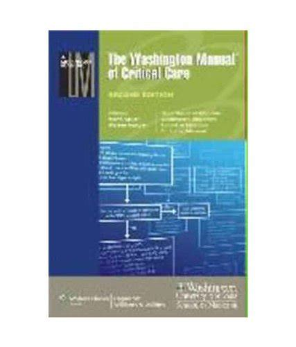 the washington manual of critical care books jasonh492 on marketplace sellerratings