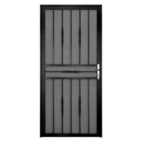 grisham 48 in x 79 in black expandable security gate 90002 the home depot