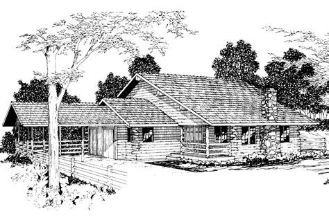 Lodge Style House Plans   Wickiup 30 116   Associated Designs