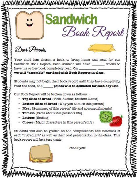 sandwich book report ideas sandwich book report 2012 2013 school year