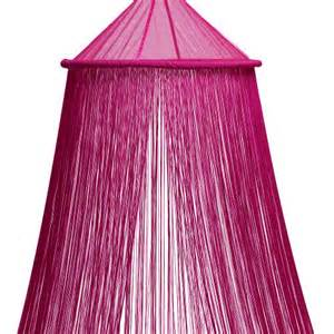 fuchsia pink string bed canopy bacati a2zchild