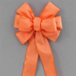 outdoor bow orange woven outdoor weatherproof bow 8 quot package