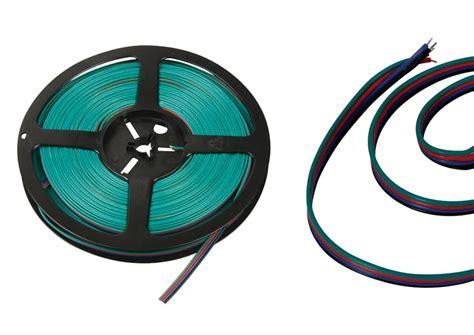 Lu Led Selang Rgb 10 Meter ledw re nl aansluit kabels 12 volt 4 aderig per