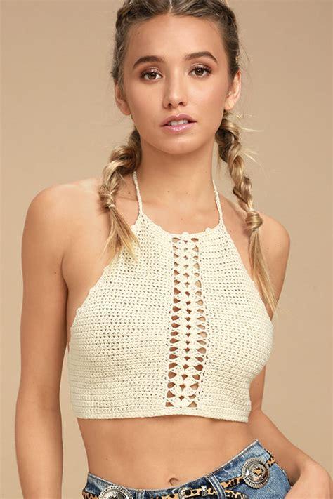 Crochet Crop Top Top Crop Top Crochet Top Crochet Halter