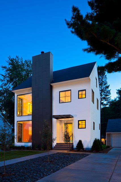 chimney  metal siding modern farmhouse exterior