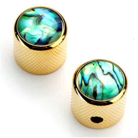 Abalone Guitar Knobs by Gold Tele Knobs Real Abalone Tops