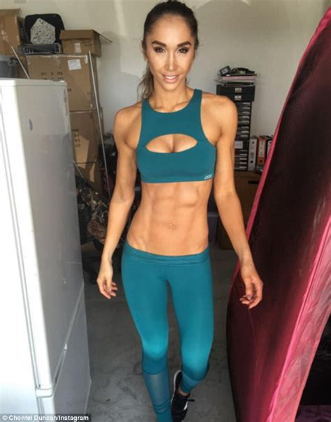 six pack abs after c section chontel duncan reveals doctors struggled to deliver her
