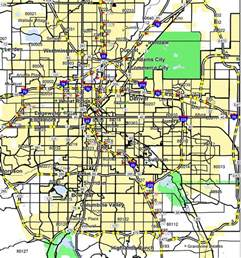 Denver Zip Code Map by Map Of Denver Metro Area Cities Quotes