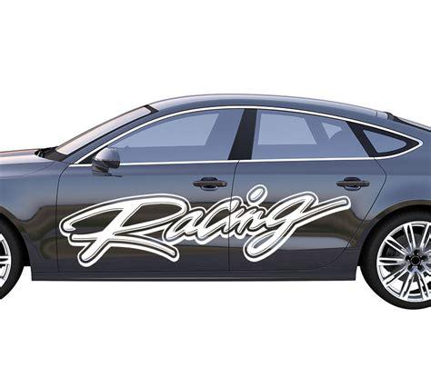 Rally Auto Kaufen by Autoaufkleber Rallye Racing Ii Schriftzug Autoaufkleber