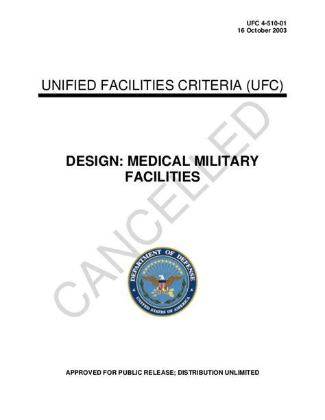 ufc design criteria ufc 4 510 01 2003 usdod