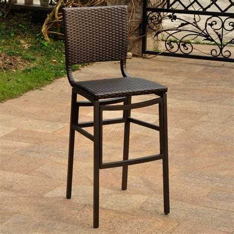Patio Bar Stools by International Caravan 4215 2ch Barcelona Outdoor Bar Stool