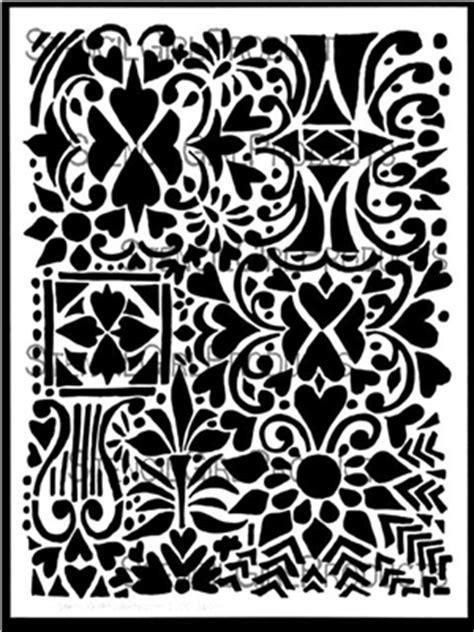 hearts flowers   stencil jessica sporn