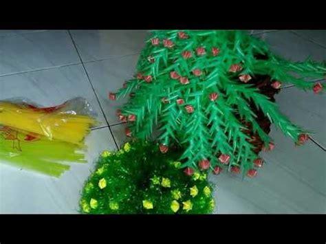 membuat bunga  plastik sedotan youtube
