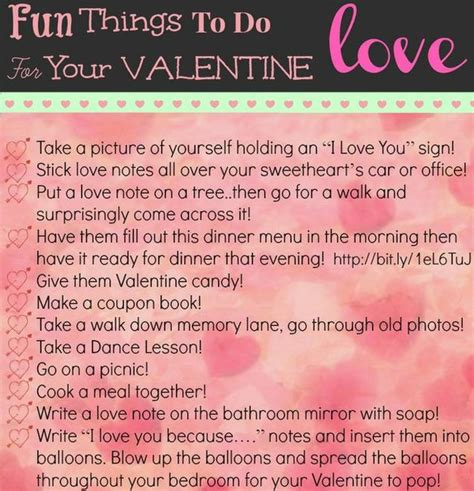 things for valentines day 30 and creative things to do with your tip