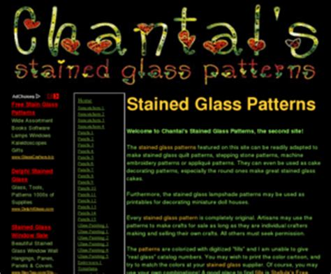 Chantal S Stained Glass Patterns Straight Lines Table Lamp » Simple Home Design