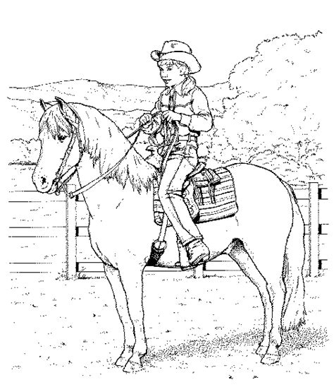 coloring pages horse and rider western riding horse coloring pages realistic coloring pages