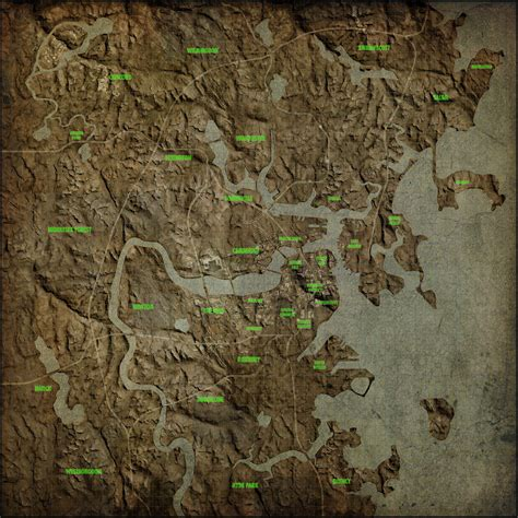 fallout world map cool maps for fallout4 fo4 mod