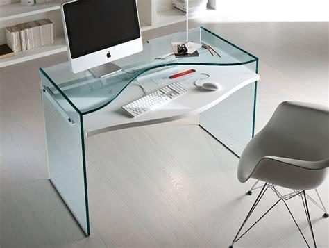 Nella Vetrina Tonelli Strata Contemporary Italian Glass Desk