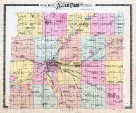 Property Records Allen County Indiana Allen County Outline Map Atlas Allen County 1898 Indiana Historical Map