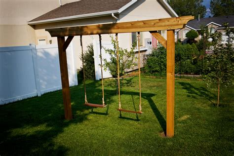 arbor swing frame pergola swing set plans images