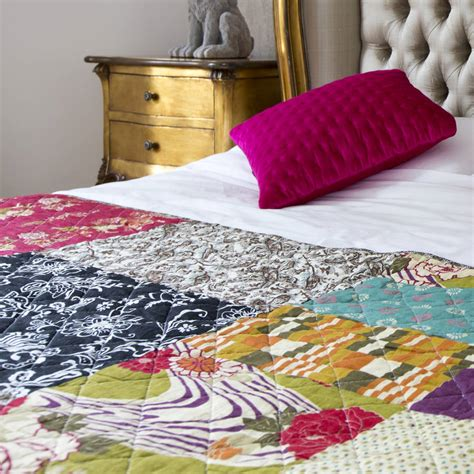 patchwork throw by i retro notonthehighstreet