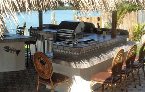 Building Outdoor Kitchen Cabinets outdoor kitchens tiki bar