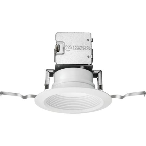 lithonia recessed lighting reviews lithonia lighting lithonia oneup 4 in white integrated