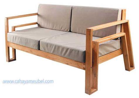 Sofa Kayu Solid bangku sofa minimalis modern jati jual kursi sofa