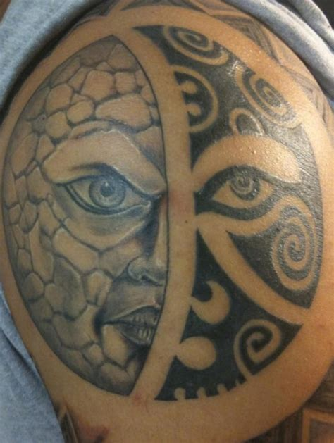 sun and moon tribal tattoo polynesian tribal sun and moon tattooimages biz