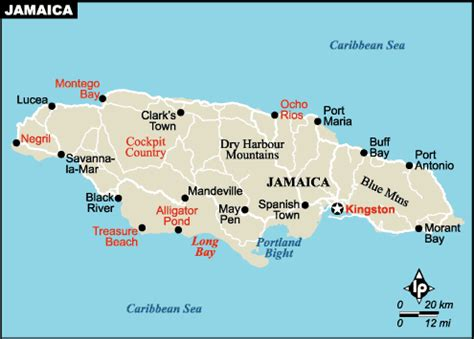 jamaica map with cities map of jamaica cities pictures to pin on pinsdaddy