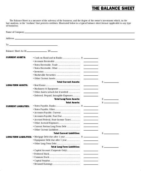 nonprofit balance sheet non profit sheet templates 6 free word pdf format