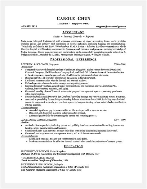 resume format for accountant experienced experienced resume format resume format