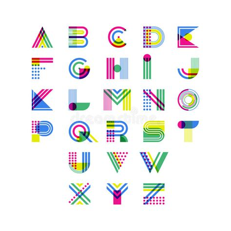 decorative symbol font download colorful geometric alphabet latin decorative font symbols