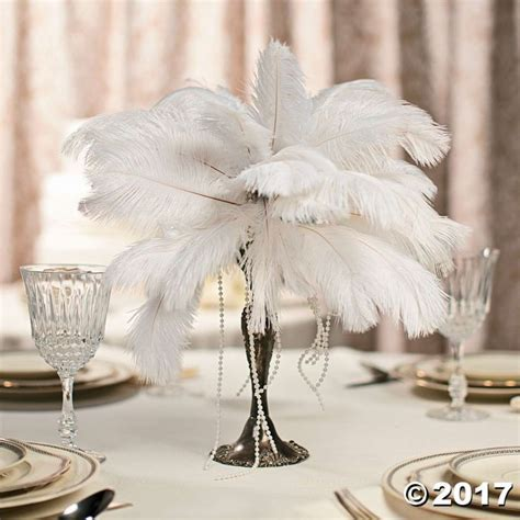 Feather Centerpiece Idea   Great Gatsby Party   Feather