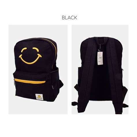 Tas Ransel Backpack 24 X 26 Cm Warna Krem keep smiling canvas backpack panmomo belanja