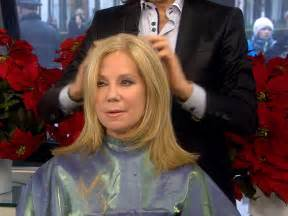 how to get kathy lee giffords hair kathie lee gets a live edward scissorhands style haircut