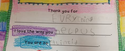 Thank You Note After Kindergarten Howywood Kindergarten Thank You Notes