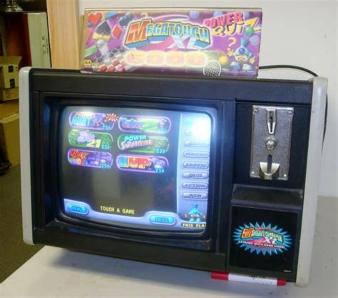bar top games merit megatouch xl 6000 bar top touch screen video arcade