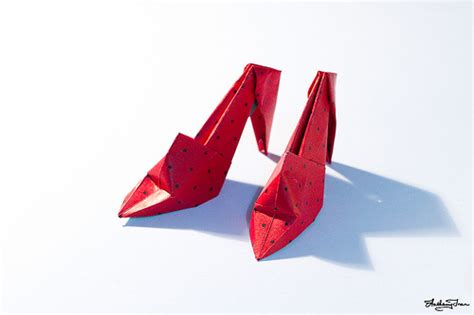 How To Make A Paper High Heel Shoe - origami high heel shoes flickr photo
