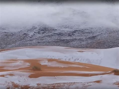 sahara snowfall snowfall in the sahara desert fourth time in 40 years