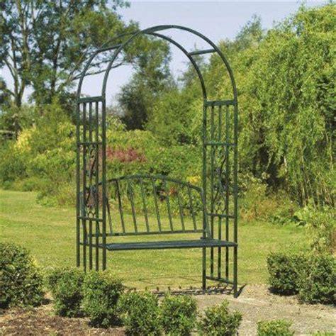 Metal Garden Arbors And Trellises Arbors And Trellises Kensington Metal Arch Arbor With