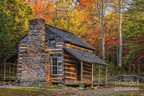Great Smoky Mountains Log Cabin Oliver S Cabin In Great Smoky Mountains Photograph By