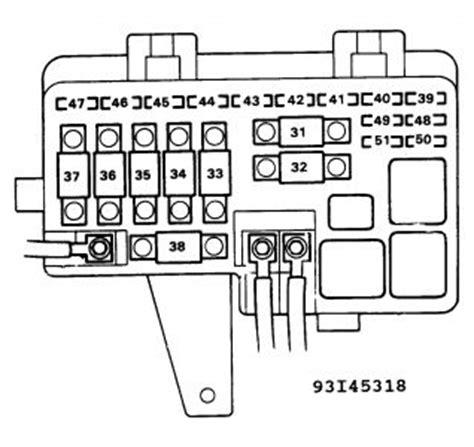 honda civic dash fuse box diagram honda wiring