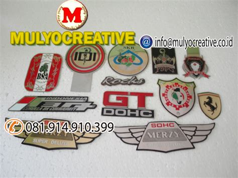 Bordir Papan Nama pesan name tag lencana pin plakat lycal resin atribut
