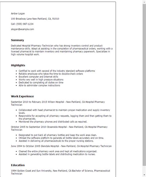 healthcare resume 69 pharmacy technician resume exles pharmacy technician resume