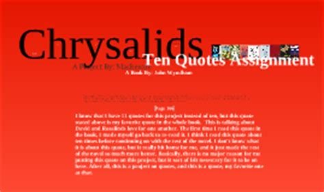 The Chrysalids Quotes And Page Numbers