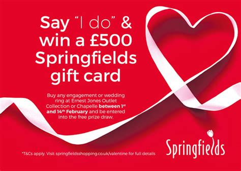Win 500 Gift Card - chance to win 163 500 gift card springfields esp magazine peterborough